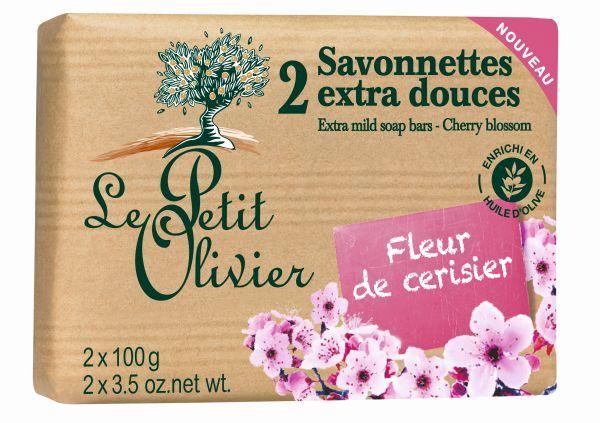 Le Petit Olivier Extra jemné mýdlo Třešňový květ 2 x 100 g