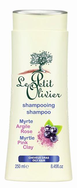 Fotografie Le Petit Olivier Šampon pro mastné vlasy Myrta a růžový jíl 250 ml