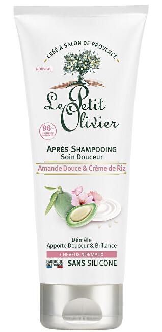 Le Petit Olivier Zjemňující kondicionér pro normální vlasy Mandlové mléko a rýžový krém (Conditioner) 200 ml