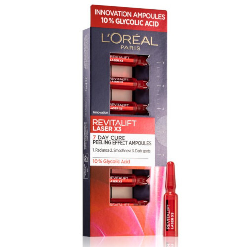 L´Oréal Paris 7 denní kúra Revitalift Laser X3 (7 Day Cure Peeling Effect Ampoules) 7 x 1,3 ml