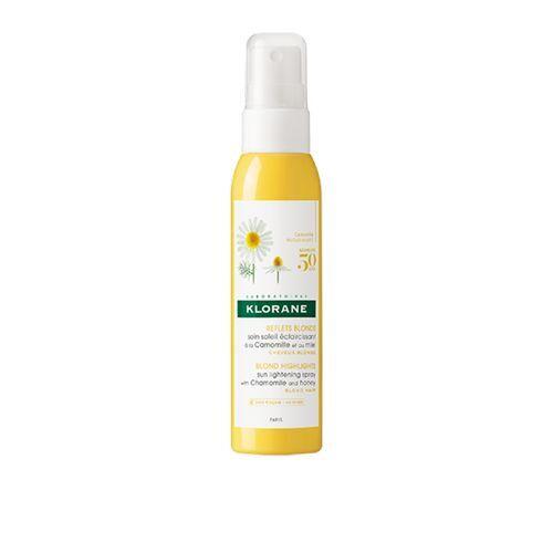 Klorane Bezoplachová starostlivosť pre rozjasnenie a zvýraznenie blond farby vlasov (Sun Light ening Spray With Chamomile And Honey) 125 ml