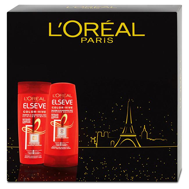 L'Oréal Paris Elseve Color Vive šampon s ochrannou péčí 250 ml + balzám s ochrannou péčí 200 ml dárková sada