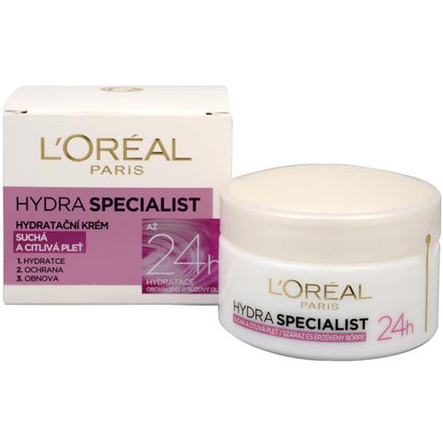 Loreal Paris Denní hydratační krém pro suchou a citlivou pleť (Hydra Specialist) 50 ml