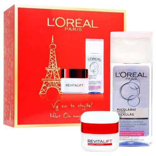 Loreal Paris Revitalift denní krém proti vráskám 50 ml + micelární voda pro normální a smíšenou pleť 200 ml dárková sada