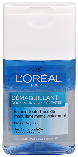 L´Oréal Paris Dvojfázový odličovač očí a pier (Gentle Make-Up Remover for Eyes & Lips) 125 ml