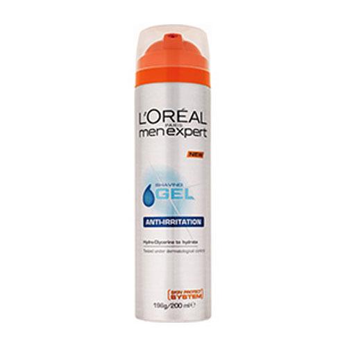 Loreal Paris Gel na holení pro citlivou pleť (Shave Gel Anti-Irritation) 200 ml
