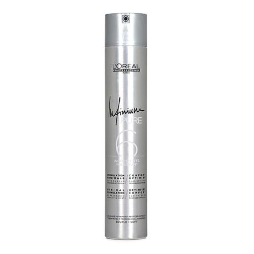 Loreal Professionnel Hypoalergenní lak na vlasy bez parfemace pro lehkou fixaci účesu Infinium Pure (Soft Hairspray) 500 ml