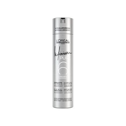 Loreal Professionnel Hypoalergenní lak na vlasy bez parfemace pro silnou fixaci účesu Infinium Pure (Strong Hairspray) 500 ml
