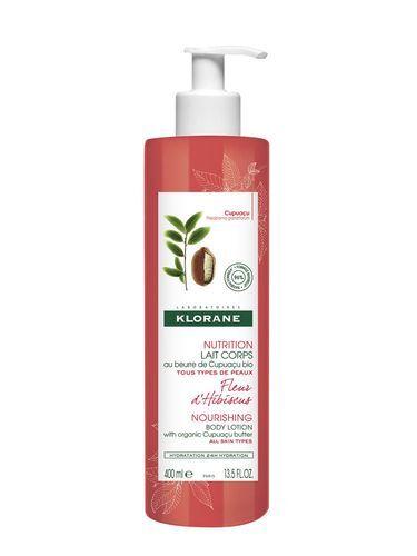Klorane Intenzivně vyživující tělové mléko s květy ibišku (Ultra Nourishng Body Lotion) 400 ml
