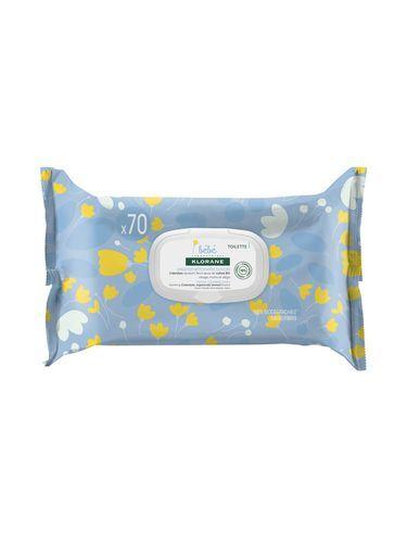 Klorane Jemné čisticí ubrousky pro děti od narození s měsíčkem (Gentle Cleansing Wipes) 70 ks