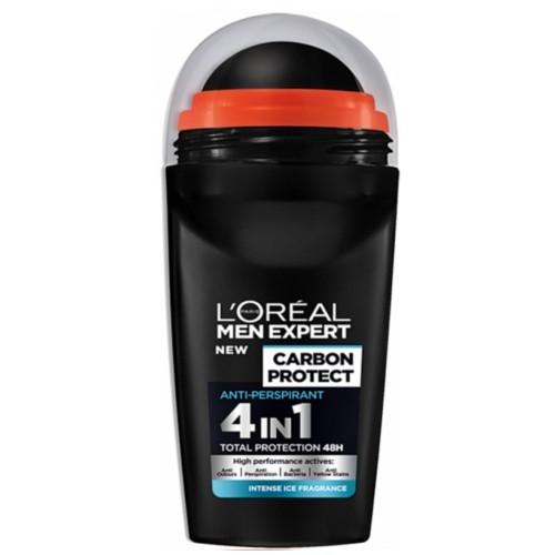 L´Oréal Paris Kuličkový antiperspirant pro muže Carbon Protect 50 ml