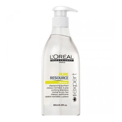 Loreal Professionnel Curățare șampon pentru păr gras și rapid scalpul Serie Expert ( Pure Resource Shampoo) 500 ml