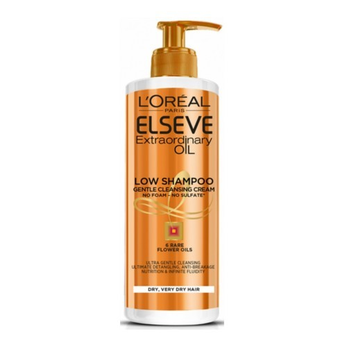 L´Oréal Paris Pečující mycí krém na vlasy Elseve Extraordinary Oil (Low Shampoo Gentle Cleansing Cream) 400 ml