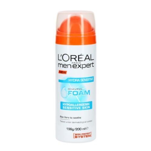 L´Oréal Paris Hydratační pěna na holení pro citlivou pleť Men Expert (Hydra Sensitive Shaving Foam) 200 ml