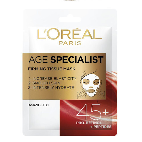 L´Oréal Paris Textilní maska pro okamžité zpevnění a vyhlazení pleti Age Specialist 45+ (Firming Tissue Mask) 1 ks