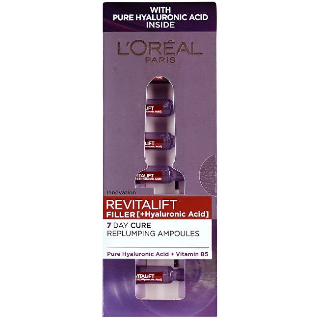 L´Oréal Paris Vyplňující pleťová péče s kyselinou hyaluronovou Revitalift Filler (Hyaluronic Acid) 7 x 1,3 ml