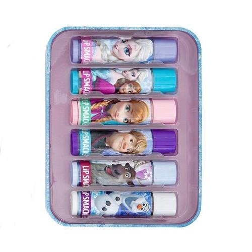 Lip Smacker Sada balzamov na pery s rôznymi príchuťami Disney Frozen (Tin Box) 6 ks
