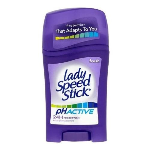Lady Speed Stick Svěží tuhý antiperspirant pH Active (Fresh 24H Protection Antiperspirant) 45 g