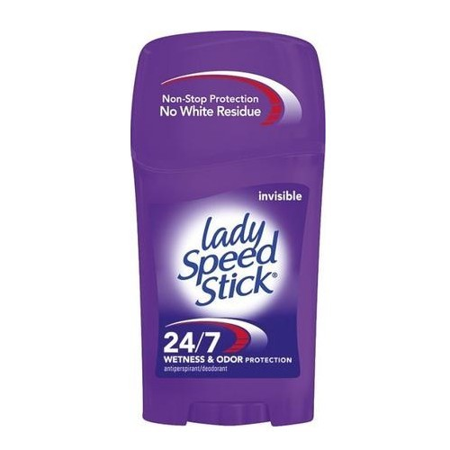 Lady Speed Stick Tuhý antiperspirant pro celodenní ochranu proti pocení 24/7 Invisible (Wetness & Odor Protection) 45 g