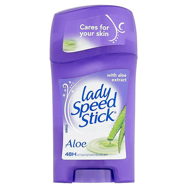 Lady Speed Stick Tuhý antiperspirant s aloe vera Sensitiv e (Aloe 24H Protection) 45 g