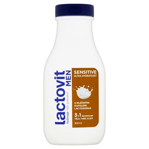 Lactovit Ultra hydratující sprchový gel Men Sensitive 300 ml