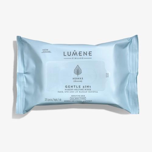 Lumene Jemné odličovací ubrousky pro citlivou pleť Cleansing (Gentle 3 In 1 Makeup Melting Wipes) 25 ks