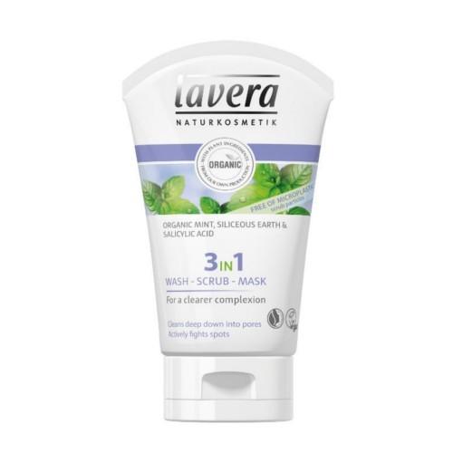Lavera Čisticí emulze, peeling a maska 3v1 (Wash, Scrub, Mask) 125 ml