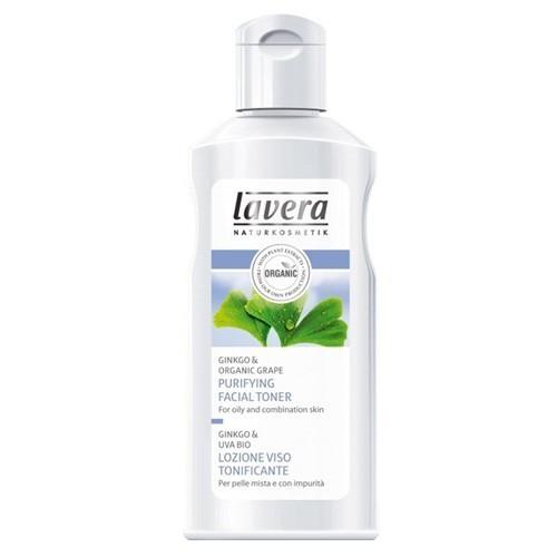 Lavera Čisticí pleťová voda Gingo & Bio hrozen pro smíšenou a mastnou pleť (Purifying Facial Toner) 125 ml