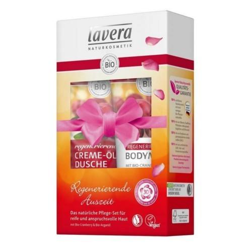 Lavera Bio Brusinka sprchový krém 200 ml + tělové mléko 200 ml dárková sada