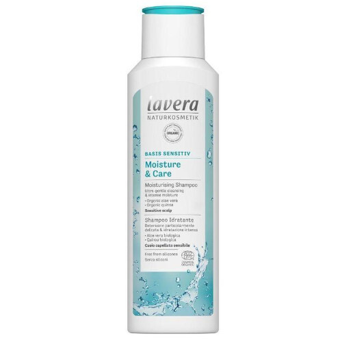 Lavera Hydratační šampon s BIO mandlovým mlékem a aloe vera Basis Sensitiv (Moisture & Care Shampoo) 250 ml