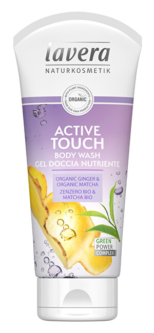 Lavera Sprchový a koupelový gel Active touch Bio zázvor a Bio matcha Body Wash Gel 200 ml