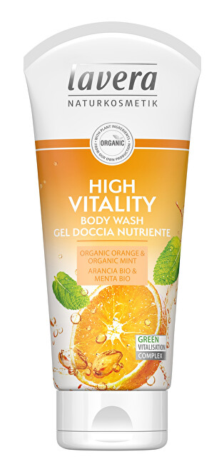 Lavera Sprchový gel High Vitality Bio pomeranč amp; Bio máta Body Wash Gel 200 ml