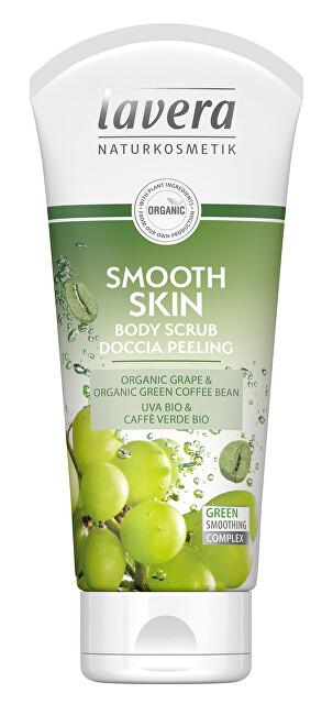 Lavera Tělový peeling Smooth Skin Bio hroznové víno a Bio zelená káva (Body Scrub) 200 ml