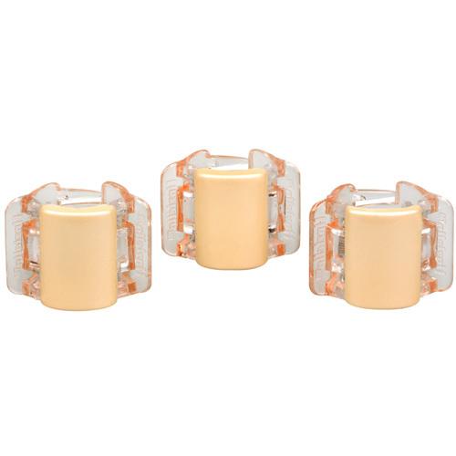 Linziclip Malý skřipec MINI 3 ks - perleťově béžový