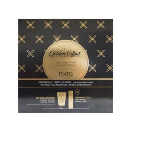 Matis Paris Golden Coffret oční krém 15 ml + krém proti předčasnému stárnutí 50 ml dárková sada