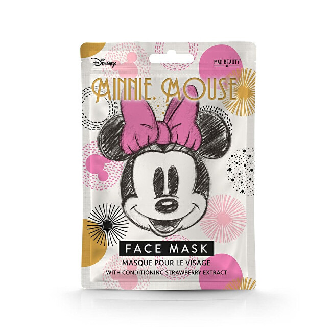 Mad Beauty Revitalizační pleťová maska s výtažky z jahod Minnie Magic Face Mask 25 ml