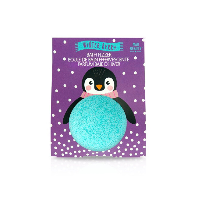 Mad Beauty Šumivá bomba do koupele s vůní zimního ovoce Winter Berry Bath Fizzer