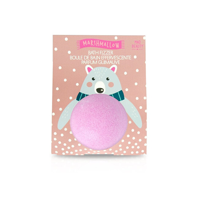 Mad Beauty Šumivá bomba do koupele s vůní marshmallow Bath Fizzer