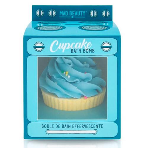 Mad Beauty Šumivá bomba do koupele Cupcake Blue (Bath Bomb) 165 g