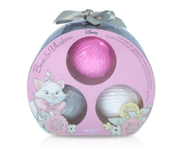 Mad Beauty Šumivá bomba do koupele Disney The Aristocats Marie Bath Fizzer Trio 3 ks
