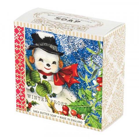 Michel Design Works Luxusní mýdlo v elegantní krabičce Sněhulák Frosty (Shea Butter Soap) 100 g