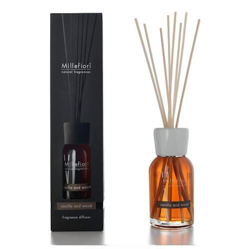 Millefiori Milano Aroma difuzér Natural Vanilka a dřevo 100 ml