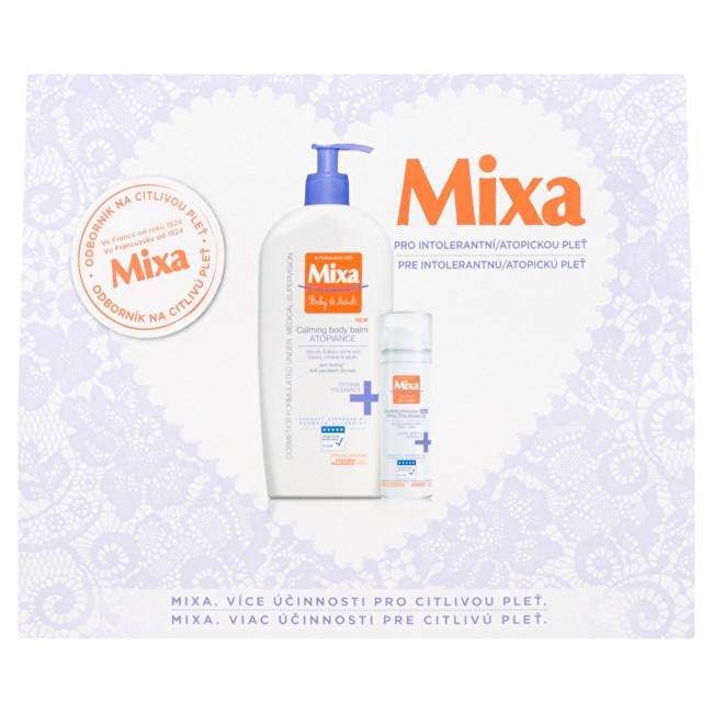 Mixa Calming Atopiance upokojujúce telové mlieko 400 ml + Soothing Moisturizer Rich Pro-Tolerancia upokojujúci hydratačný krém 50 ml darčeková sada