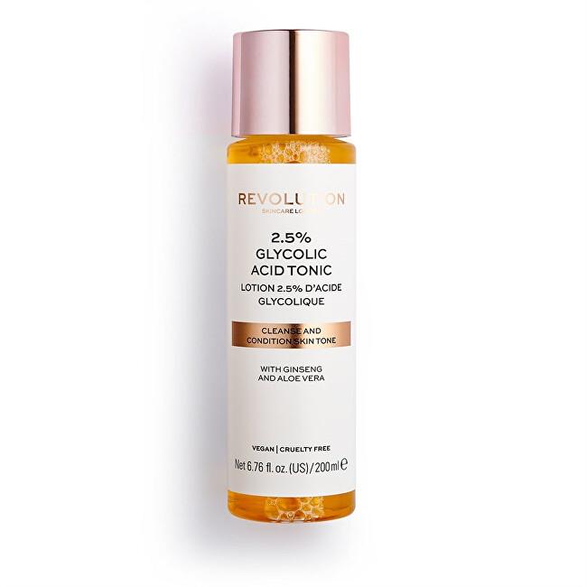Revolution Čisticí pleťové tonikum Skincare 2.5% Glycolic Acid (Cleanse and Condition Tone) 200 ml