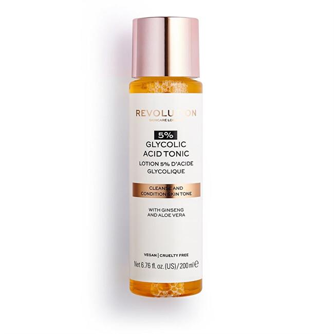 Revolution Čisticí pleťové tonikum Skincare 5% Glycolic Acid (Cleanse and Condition Tone) 200 ml