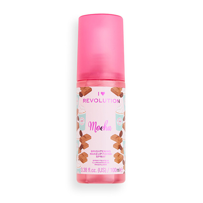 Revolution Fixačný sprej na make-up Aj ♥ Revolution Mocha (Brightening Makeup Fixing Spray) 100 ml