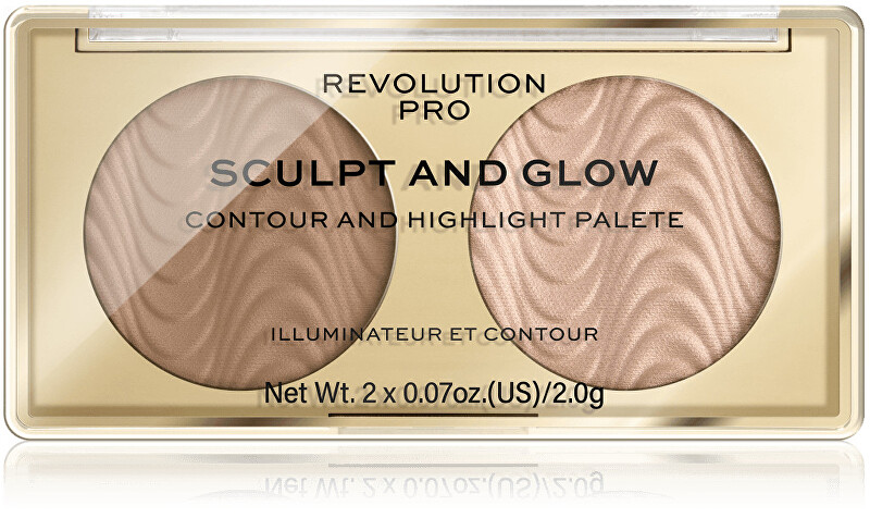 Revolution PRO Kontúrovacia paletka Sculpt and Glow Desert Sky PRO (Contour And Highlight Palete) 4 g