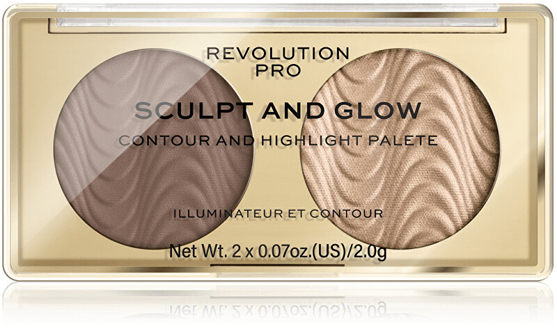Revolution PRO Kontúrovacia paletka Sculpt and Glow Savanna Nights PRO (Contour And Highlight Palete) 4 g