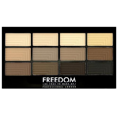 Freedom Paletka 12 očních stínů Audacious Mattes (Eyeshadow Palette Freedom PRO) 12 g
