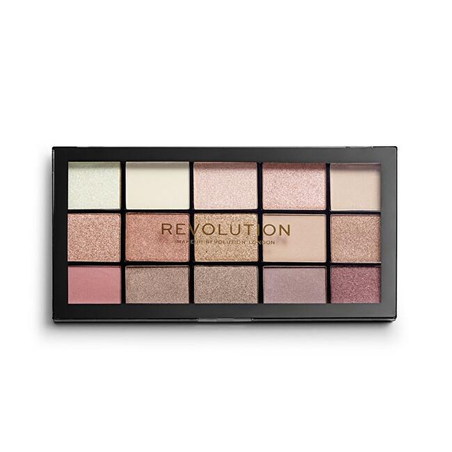 Makeup Revolution paletka očních stínů Re-Loaded Iconic 3.0 stíny rosegold a broskvové 16,5 g